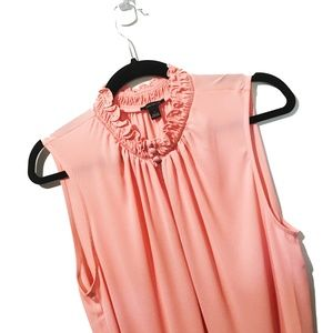 NWT Ann Taylor Light Pink Sleeveless Blouse Top L